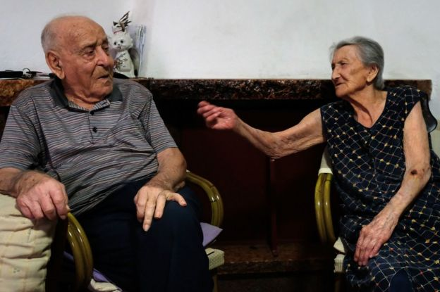 Antonio Vassallo and his wife Amina Fedollo at their home in Acciaroli, in southern Italy, on August 23, 2016. (Photo: Mario Laporta)