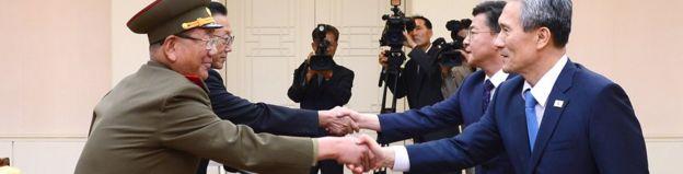 Kuzey ve Güney Kore yetkilileri
