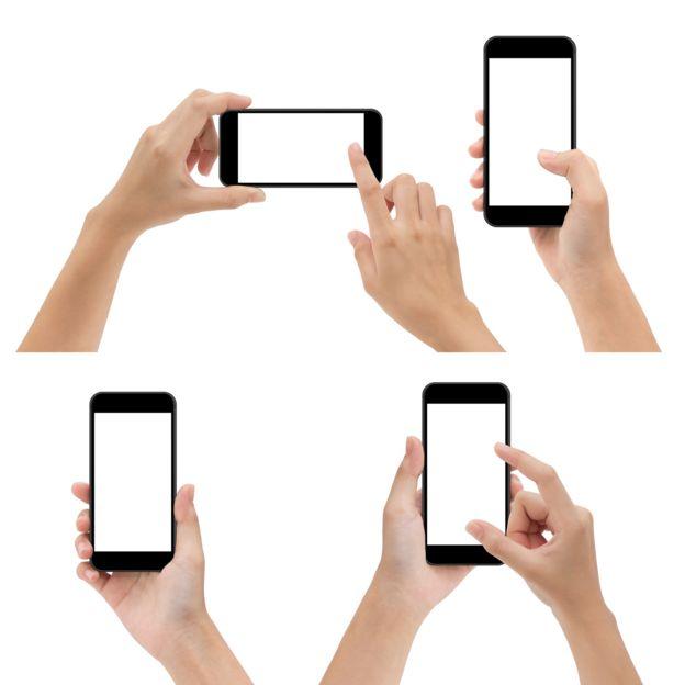gestos usar teléfono