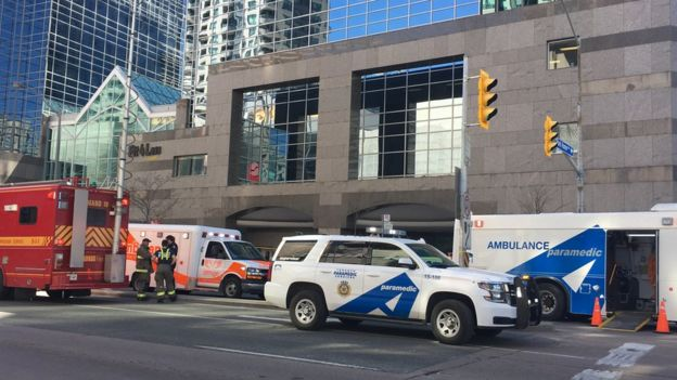 Toronto hit and run scene