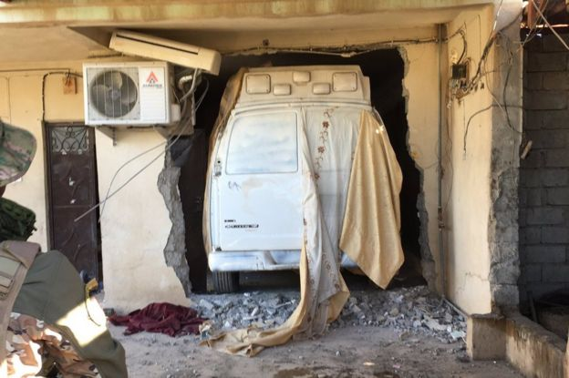 A hidden and still live car bomb found in a village home