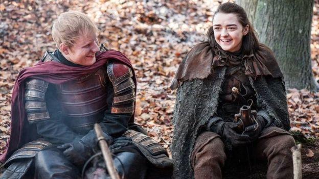 Foto emitida por HBO de Ed Sheeran en la serie