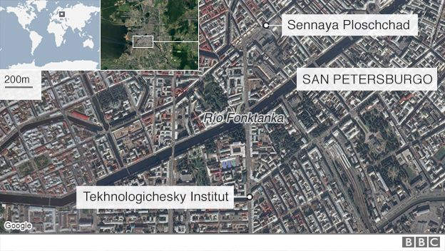 Imagen satelital de San Petersburgo