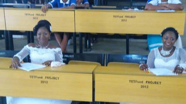 Docas Atsea and Deborah Atoh sitting exams
