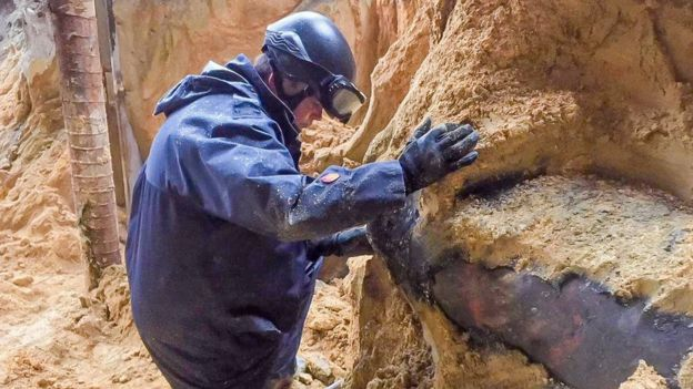 The 450kg bomb found in a Hong Kong construction site