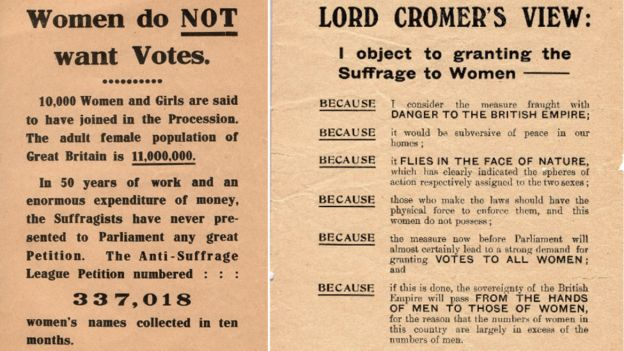 Two anti-suffrage leaflets