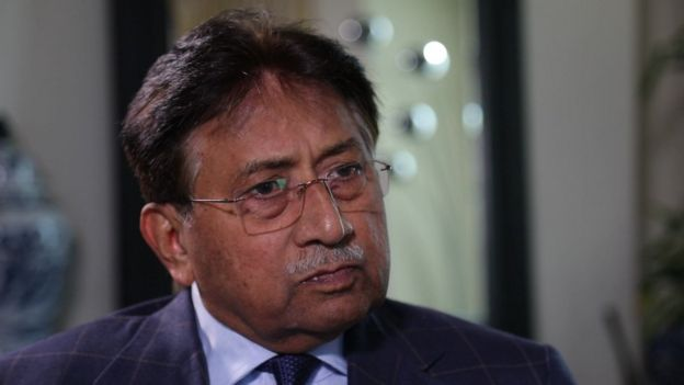 Pervez Musharraf being interviewed by BBC