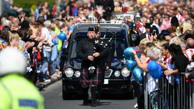 Bradley Lowery's funeral cortege