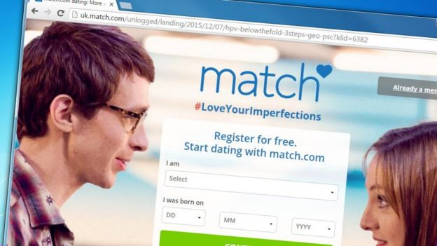 match.com front page