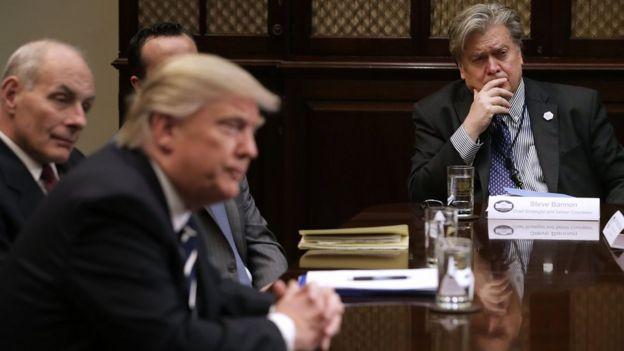 Дональд Трамп и Стив Бэннон