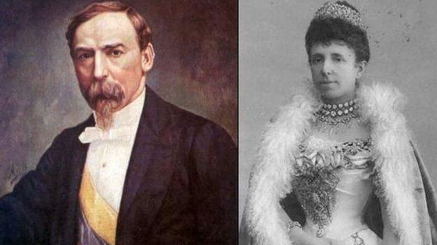 El presidente colombiano Carlos Holguín Mallarino cedió el tesoro a la reina española María Cristina en 1893.
