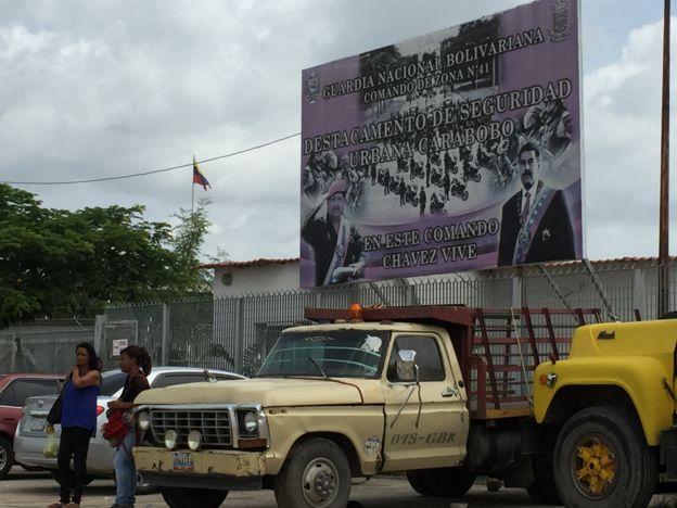 Acceso al destacamento de la Guardia Nacional en Ciudad Chávez