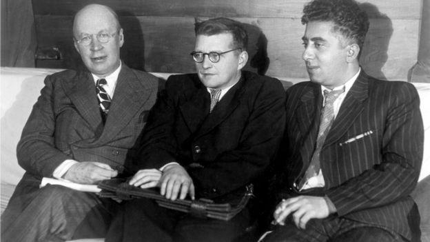 Композиторы Сергей Прокофьев, Дмитрий Шостакович и Арам Хачатурян в 1940 году