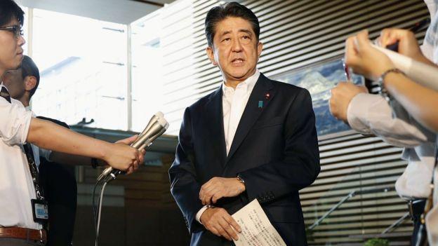 El primer ministro japonés, Shinzo Abe, dijo en una breve declaración a los medios que su gobierno hará