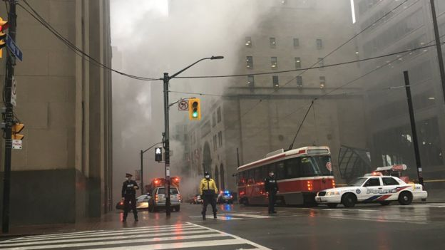 Downtown Toronto fire