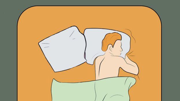 Iustración de un hombre solo en una cama