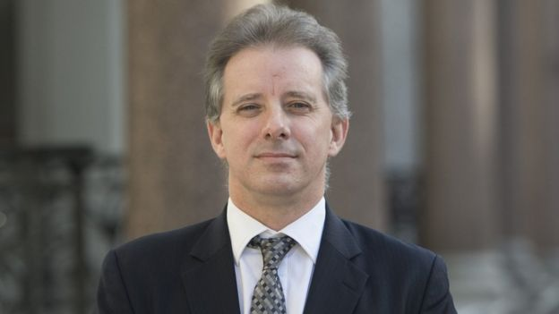 Christopher Steele in London