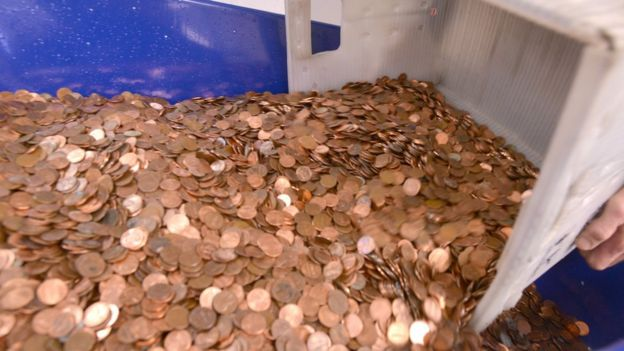 Coins collected by Nick Stafford (11 January 2017)