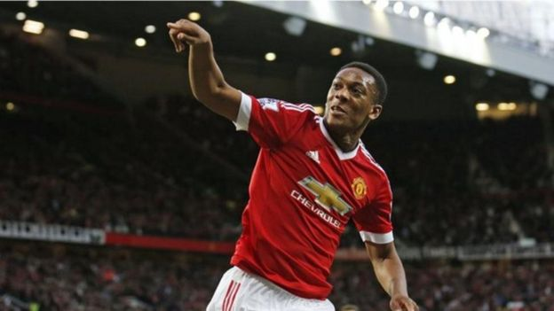 Winga wa Man United Anthony Martial