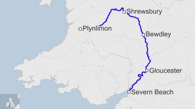 Man attempts record swim of the River Severn  BBC News
