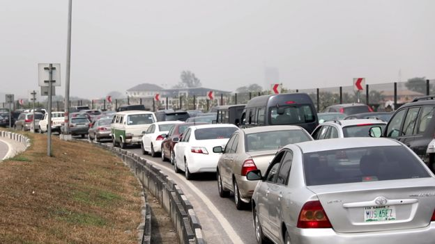 Tight traffic for Lekki-Epe Expressway