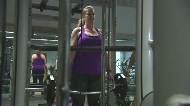 Harriet Mulvaney in the gym