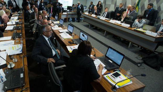 Reunião de comissões do Senado para discutir a PEC 55