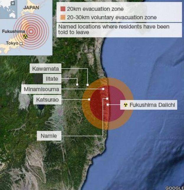 Japan Unprepared For Fukushima Nuclear Disaster BBC News - Japan map fukushima