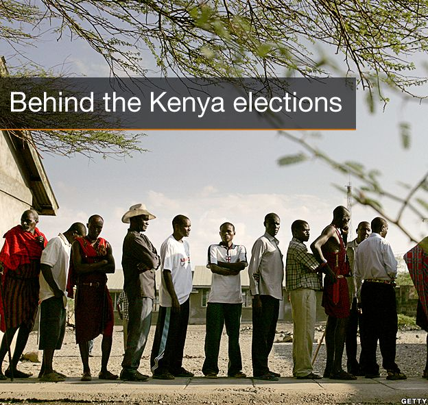 Title Page Behind The Kenya Elections Map
