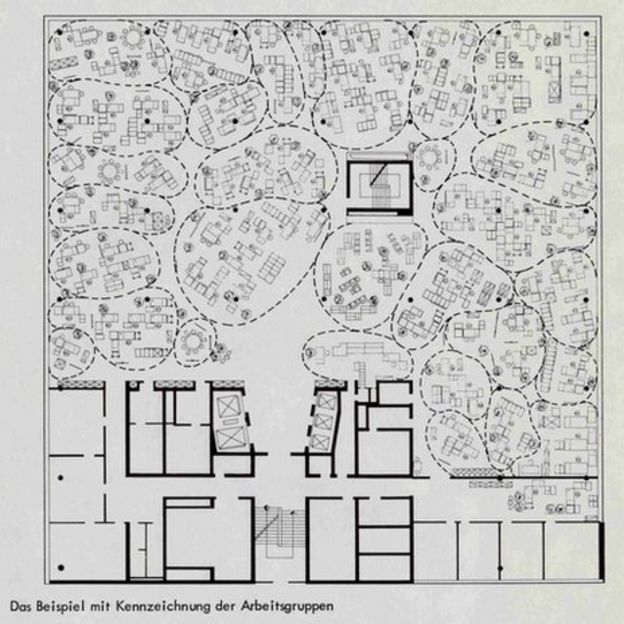 open office floor plans. The plan for Osram  1965 pleasures and perils of the open office BBC News