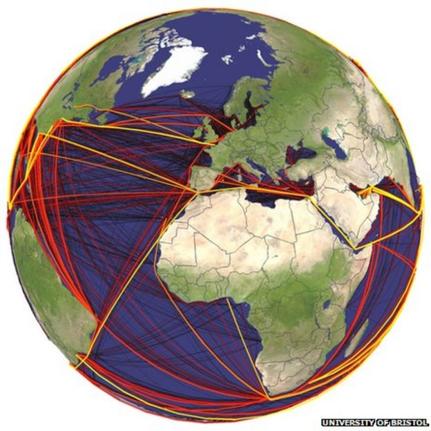 Scientists Map Global Routes Of Shipborne Invasive Species BBC News - International shipping routes map to us