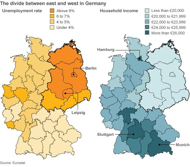 Germany In Figures BBC News - Germany uk map
