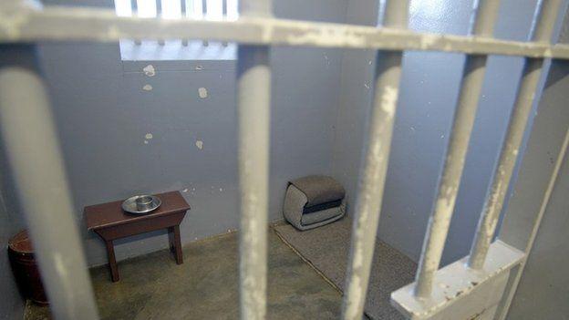 Nelson Mandela's former cell on Robben Island