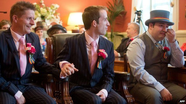 ... Phil Robathan and James Preston at their wedding