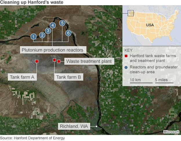 Years On At Americas Most Contaminated Nuclear Waste Site - Map of nuclear waste sites in us