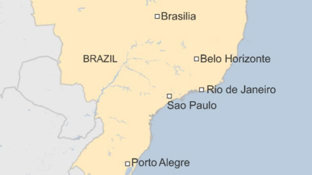 Brazil World Cup Clashes at Sao Paulo and Rio protests BBC News