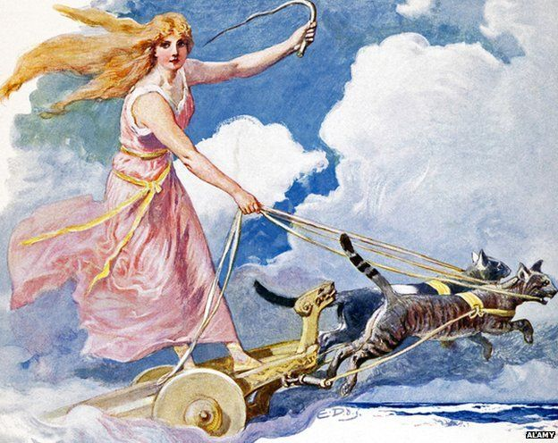 Freyja, Freya or Vanadis - Norse goddess of fertility, love and marriage, beauty and light and peace