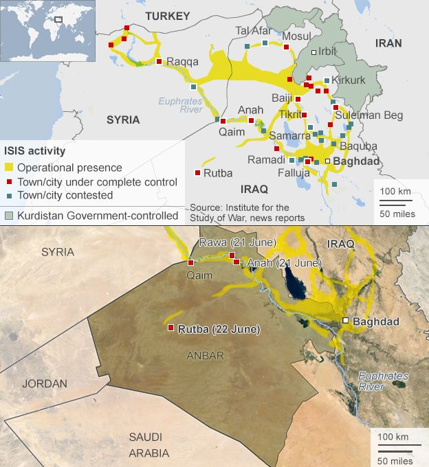Iraq crisis: Rutba latest western town to fall to Isis - BBC News
