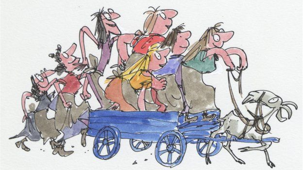 Quentin Blake opens House of Illustration - BBC News