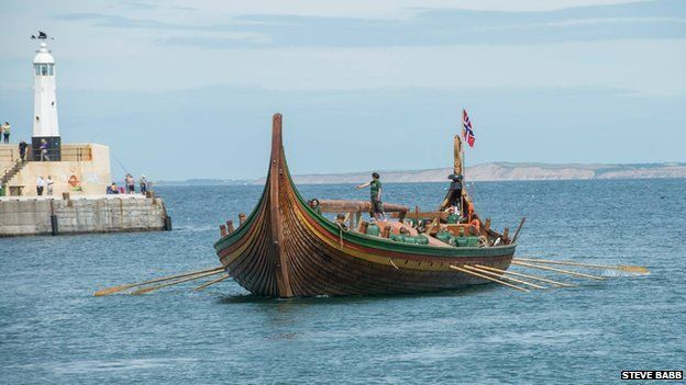 Largest replica Viking longship ever built visits Isle of Man ...