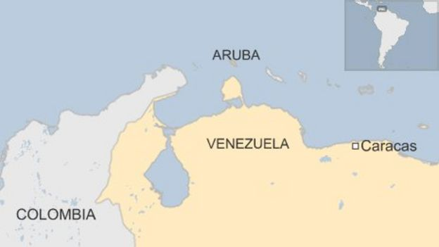 Venezuela Gives Heros Welcome To Freed General Carvajal BBC News - Aruba map of us