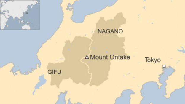 Japan Volcano Mt Ontake Rescue Teams Find Bodies BBC News - Japan volcano map
