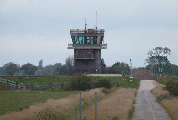 RAF Wainfleet control tower for sale - BBC News