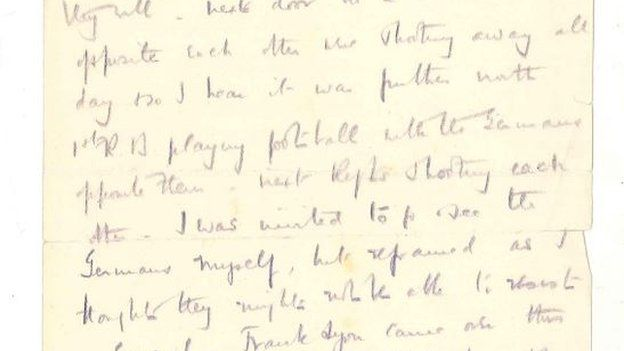 WW1 Christmas truce letter found in Staffordshire - BBC News