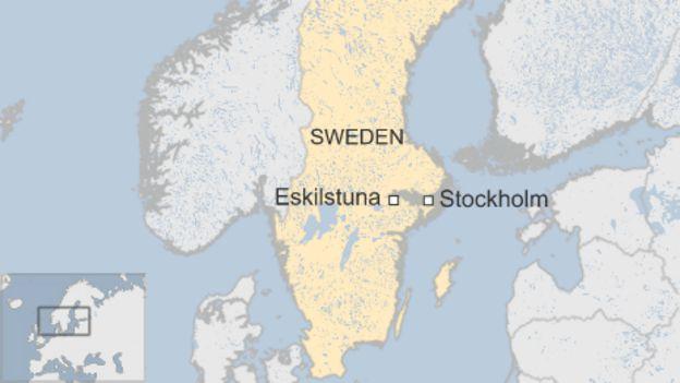 Swedish Mosque Hit By Arson In Eskilstuna Injuring Five BBC News - Map sweden 2014