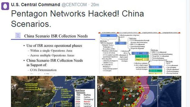 US Centcom Twitter Account Hacked By ProIS Group BBC News - Map of us chinese hacking victims
