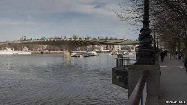 London Garden Bridge Design of Thames crossing unveiled BBC News