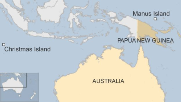 Australias beautiful prison in Papua New Guinea BBC News – Map of Christmas Island and Australia