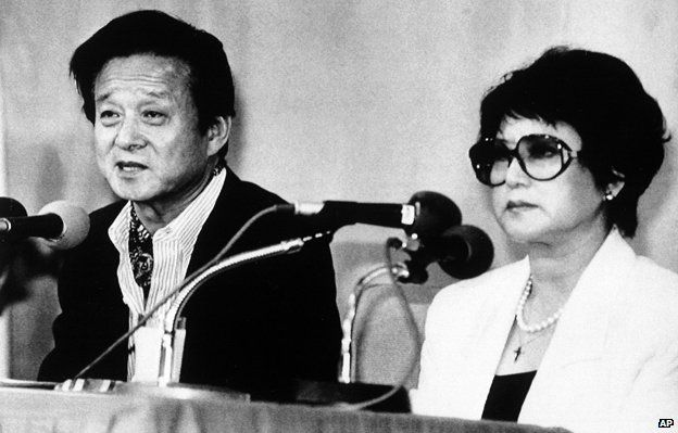 Shin Sang-ok and Choi Eun-hee in 1989 after their escape from North Korea. Photo: AP Images