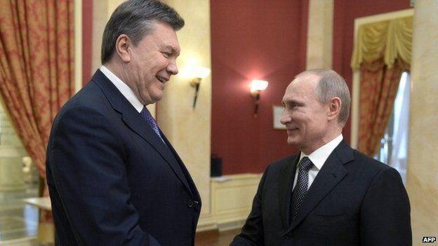 Viktor Yanukovich y Vladimir Putin